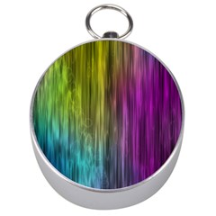 Rainbow Bubble Curtains Motion Background Space Silver Compasses by Mariart