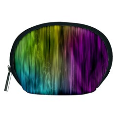 Rainbow Bubble Curtains Motion Background Space Accessory Pouches (medium)  by Mariart