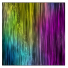 Rainbow Bubble Curtains Motion Background Space Large Satin Scarf (square) by Mariart