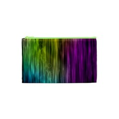 Rainbow Bubble Curtains Motion Background Space Cosmetic Bag (xs) by Mariart