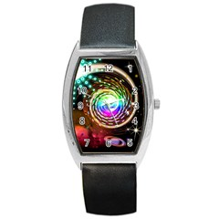 Space Star Planet Light Galaxy Moon Barrel Style Metal Watch by Mariart