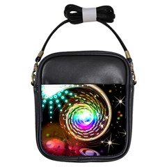 Space Star Planet Light Galaxy Moon Girls Sling Bags by Mariart