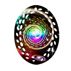 Space Star Planet Light Galaxy Moon Ornament (oval Filigree) by Mariart