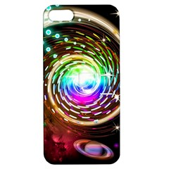 Space Star Planet Light Galaxy Moon Apple Iphone 5 Hardshell Case With Stand by Mariart