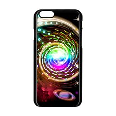 Space Star Planet Light Galaxy Moon Apple Iphone 6/6s Black Enamel Case by Mariart