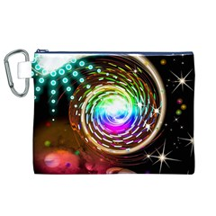 Space Star Planet Light Galaxy Moon Canvas Cosmetic Bag (xl) by Mariart