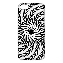 Spiral Leafy Black Floral Flower Star Hole Apple Iphone 5c Hardshell Case by Mariart