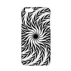 Spiral Leafy Black Floral Flower Star Hole Apple Iphone 6/6s Hardshell Case by Mariart