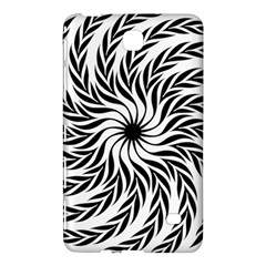 Spiral Leafy Black Floral Flower Star Hole Samsung Galaxy Tab 4 (7 ) Hardshell Case  by Mariart