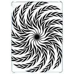 Spiral Leafy Black Floral Flower Star Hole Apple Ipad Pro 12 9   Hardshell Case by Mariart