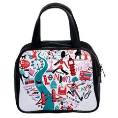London Illustration City Classic Handbags (2 Sides) by Mariart
