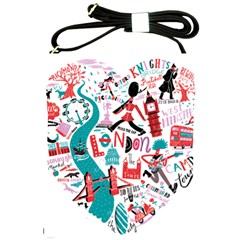 London Illustration City Shoulder Sling Bags by Mariart