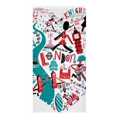 London Illustration City Shower Curtain 36  X 72  (stall)  by Mariart