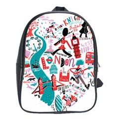 London Illustration City School Bag (xl) by Mariart