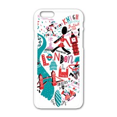 London Illustration City Apple Iphone 6/6s White Enamel Case by Mariart