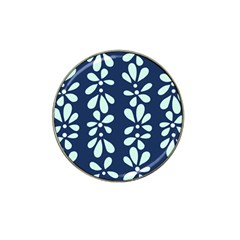 Star Flower Floral Blue Beauty Polka Hat Clip Ball Marker (4 Pack) by Mariart