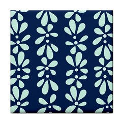 Star Flower Floral Blue Beauty Polka Face Towel by Mariart