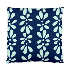 Star Flower Floral Blue Beauty Polka Standard Cushion Case (one Side) by Mariart