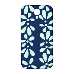 Star Flower Floral Blue Beauty Polka Samsung Galaxy S4 I9500/i9505  Hardshell Back Case by Mariart