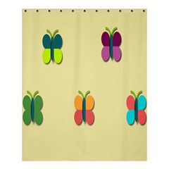 Spring Butterfly Wallpapers Beauty Cute Funny Shower Curtain 60  X 72  (medium)  by Mariart