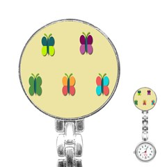 Spring Butterfly Wallpapers Beauty Cute Funny Stainless Steel Nurses Watch by Mariart
