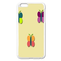 Spring Butterfly Wallpapers Beauty Cute Funny Apple Iphone 6 Plus/6s Plus Enamel White Case by Mariart