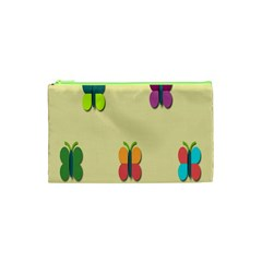 Spring Butterfly Wallpapers Beauty Cute Funny Cosmetic Bag (xs) by Mariart