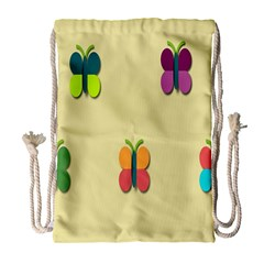 Spring Butterfly Wallpapers Beauty Cute Funny Drawstring Bag (large) by Mariart