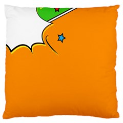 Star Line Orange Green Simple Beauty Cute Large Cushion Case (two Sides) by Mariart