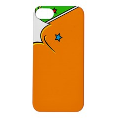 Star Line Orange Green Simple Beauty Cute Apple Iphone 5s/ Se Hardshell Case by Mariart