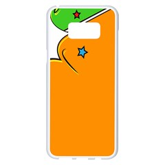 Star Line Orange Green Simple Beauty Cute Samsung Galaxy S8 Plus White Seamless Case by Mariart