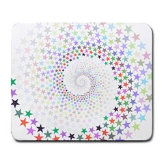 Prismatic Stars Whirlpool Circlr Rainbow Large Mousepads by Mariart