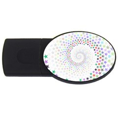 Prismatic Stars Whirlpool Circlr Rainbow Usb Flash Drive Oval (2 Gb) by Mariart