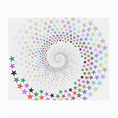 Prismatic Stars Whirlpool Circlr Rainbow Small Glasses Cloth (2 Side) by Mariart