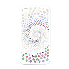 Prismatic Stars Whirlpool Circlr Rainbow Apple Iphone 4 Case (white) by Mariart