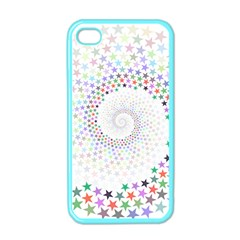 Prismatic Stars Whirlpool Circlr Rainbow Apple Iphone 4 Case (color) by Mariart