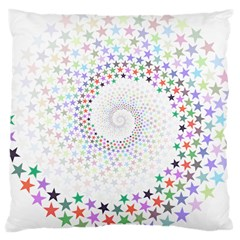 Prismatic Stars Whirlpool Circlr Rainbow Large Cushion Case (one Side) by Mariart