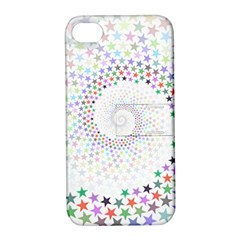 Prismatic Stars Whirlpool Circlr Rainbow Apple Iphone 4/4s Hardshell Case With Stand