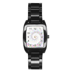 Prismatic Stars Whirlpool Circlr Rainbow Stainless Steel Barrel Watch by Mariart