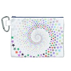 Prismatic Stars Whirlpool Circlr Rainbow Canvas Cosmetic Bag (xl) by Mariart