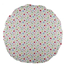 Star Rainboe Beauty Space Large 18  Premium Flano Round Cushions by Mariart