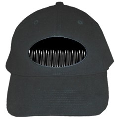 Style Line Amount Wave Chevron Black Cap by Mariart