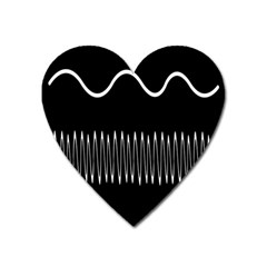Style Line Amount Wave Chevron Heart Magnet by Mariart