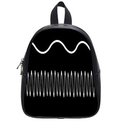 Style Line Amount Wave Chevron School Bag (small) by Mariart