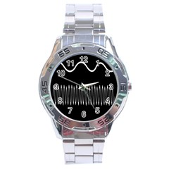 Style Line Amount Wave Chevron Stainless Steel Analogue Watch by Mariart