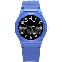 Style Line Amount Wave Chevron Round Plastic Sport Watch (s) by Mariart