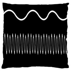 Style Line Amount Wave Chevron Large Cushion Case (two Sides) by Mariart