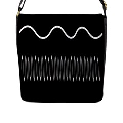 Style Line Amount Wave Chevron Flap Messenger Bag (l)  by Mariart