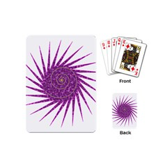 Spiral Purple Star Polka Playing Cards (mini)  by Mariart