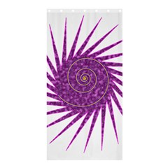 Spiral Purple Star Polka Shower Curtain 36  X 72  (stall)  by Mariart